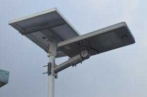 lampa solarna LED z panelami fotowoltaicznymi