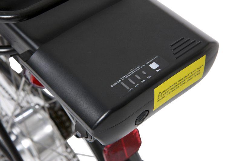 Wskaźnik naładowania akumulatora przechowującego energię elektryczną do roweru