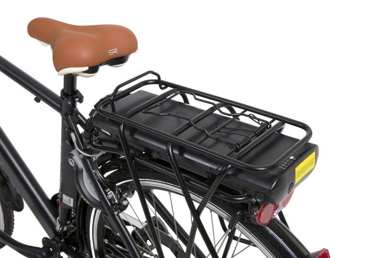 Widok na cały akumulator roweru elektrycznego
