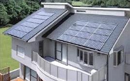 Wizualizacja ogniw solarnych na dachu